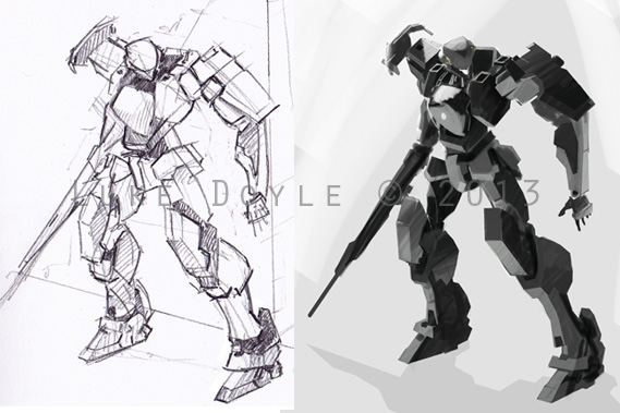 Gernsback, sketch and early paintwork